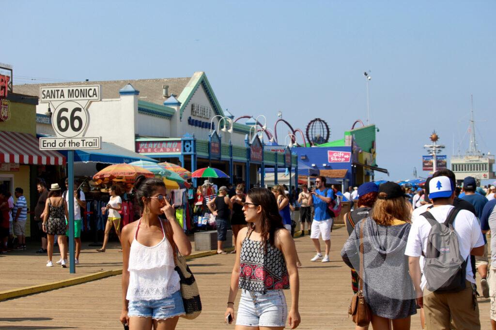 Santa Monica Pier, Ende der Route 66