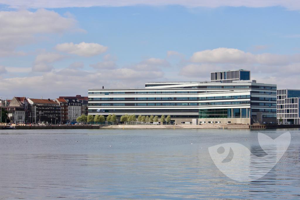 Bibliothek von Aarhus, Blick vom Wasser