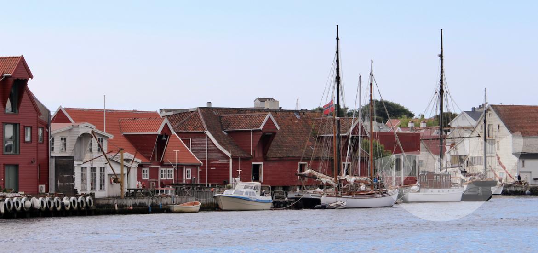 Idyllische Atmosphäre von Skudeneshavn, Haugesund