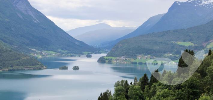 Blick auf den Strynsee, Norwegen