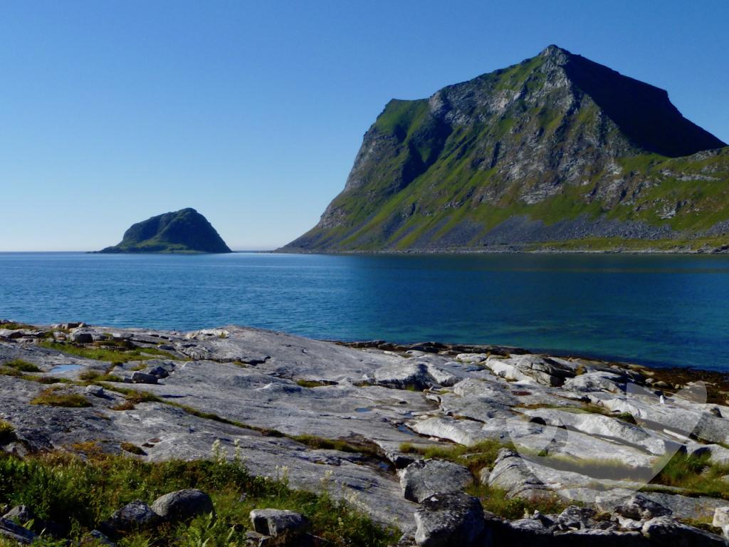 Schroffe Felsen in Vestvågøy, Lofoten
