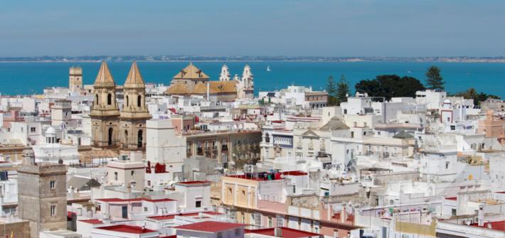 Cádiz Panorama vom Turm Torre Tavira