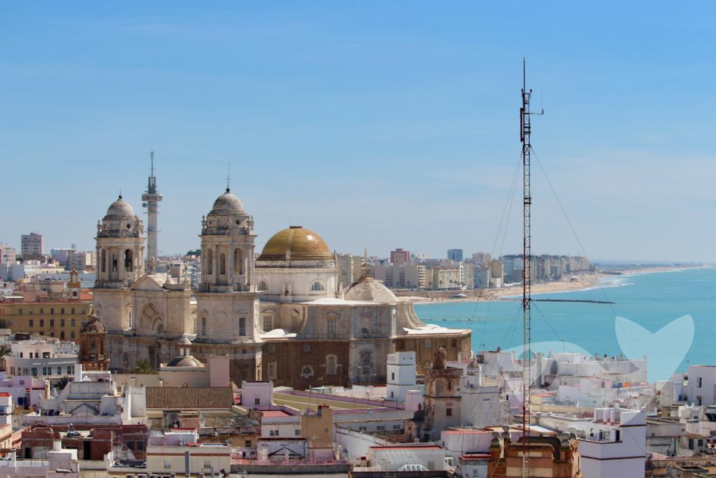 Aussicht vom Torre Tavira in Cádiz