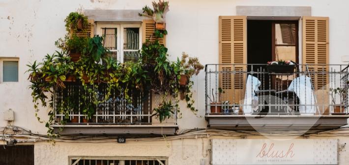 Hausfassade, auf unserer Mittelmeerkreuzfahrt mit Halt in Palma de Mallorca