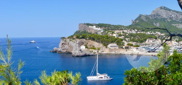 Blick in die Bucht von Port de Sóller