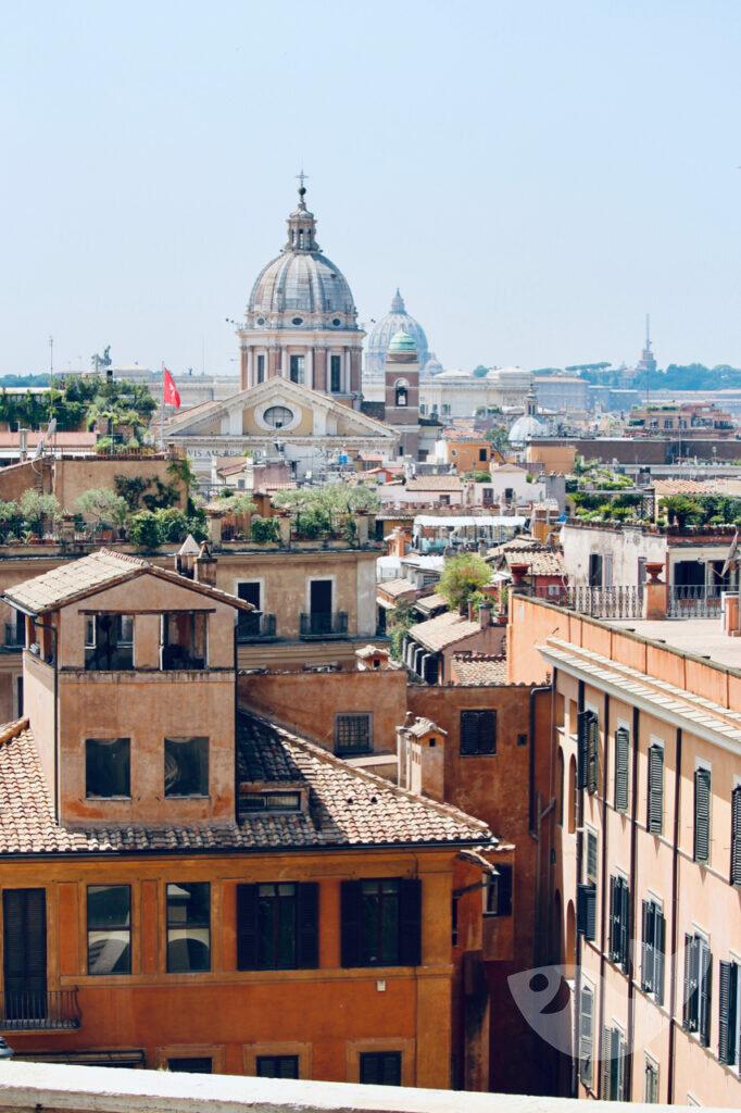 Rom von oben: Aussicht von der Spanischen Treppe