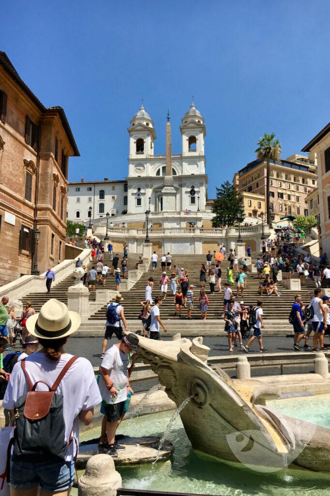 Spanischen Treppe in Rom